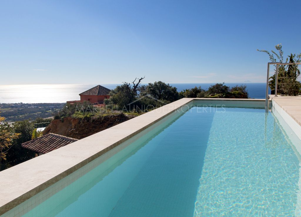 Brand new designer villa with panoramic sea views in Los Monteros