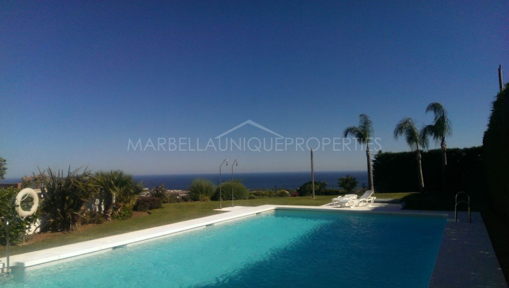Modern and very private townhouse for sale in Marbella Views, Benahavis