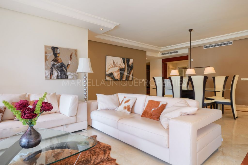 A splendid 3 bedroom ground floor apartment in Menara Beach, The New Golden Mile