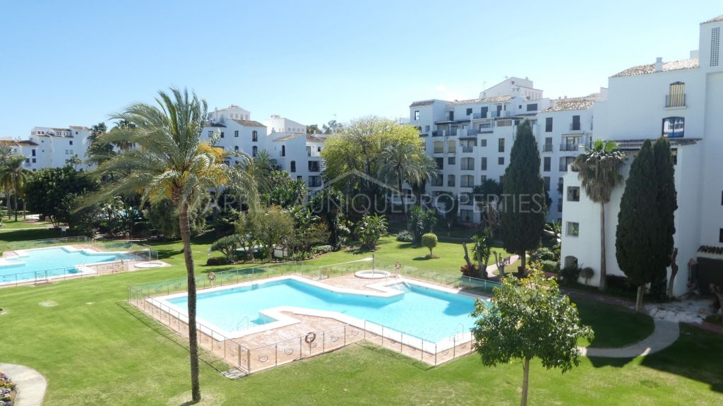 A beautiful west facing 2 bedroom beachside apartment in Terrazas de Banus, Puerto Banus.