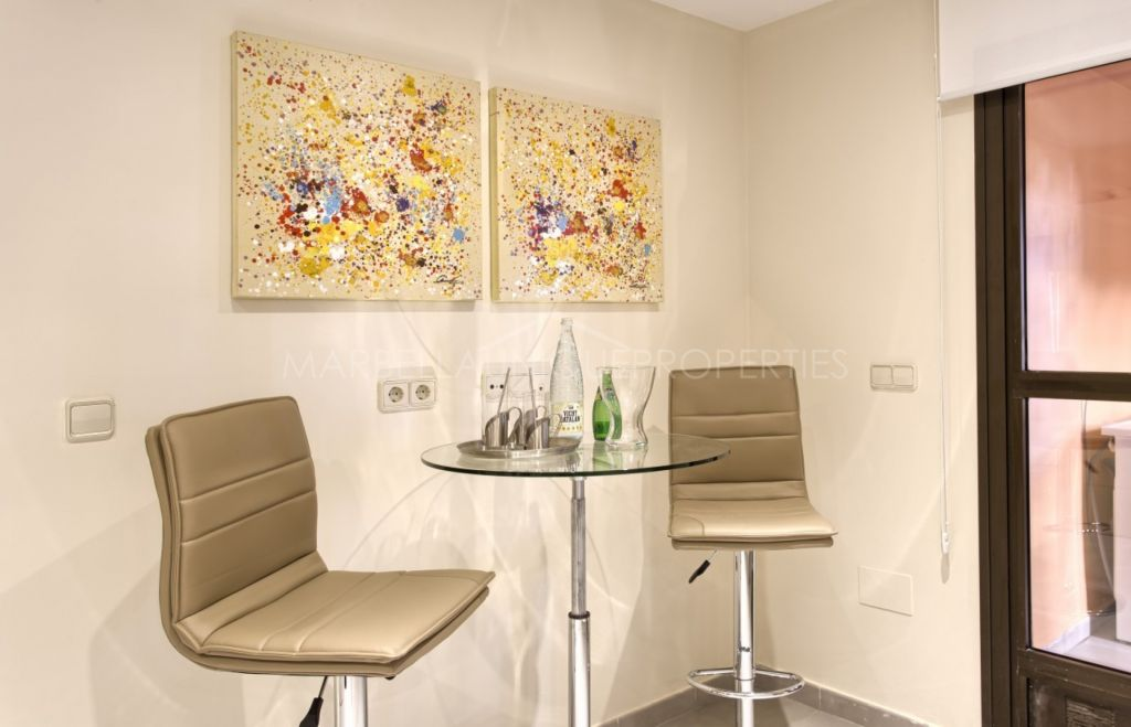 Brand new Mediterranean style ground floor apartment in Casares Beach