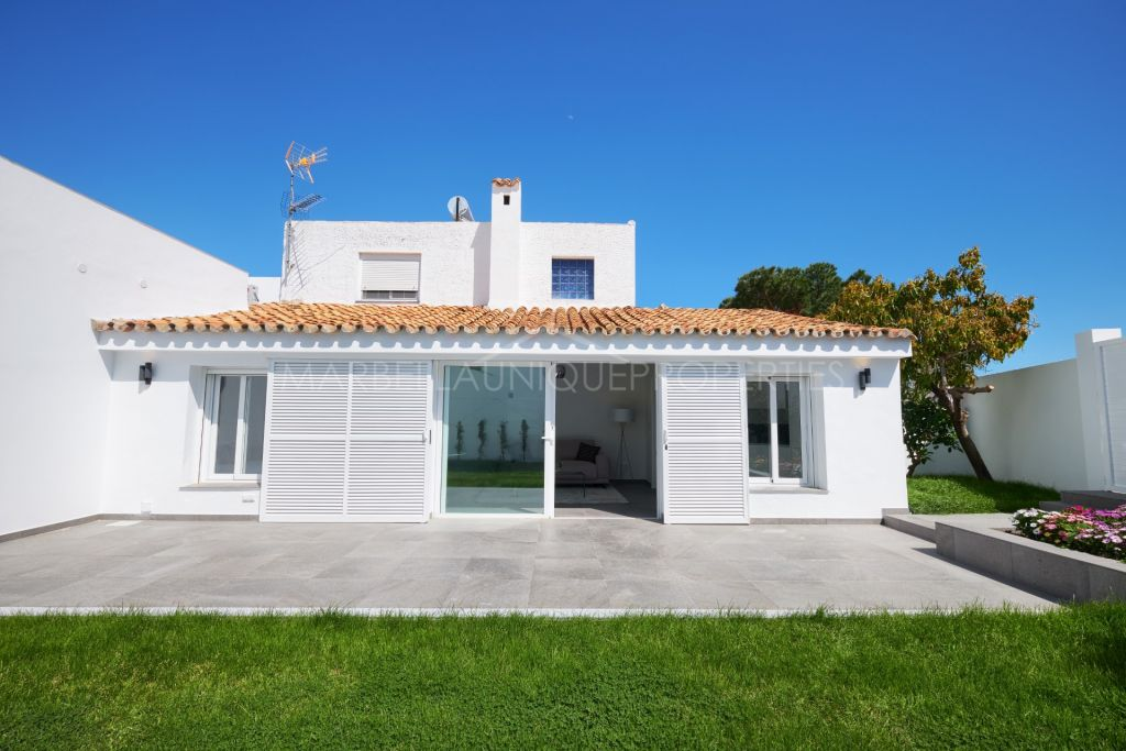 Fully refurbished two townhouses sold together in Puerto Romano