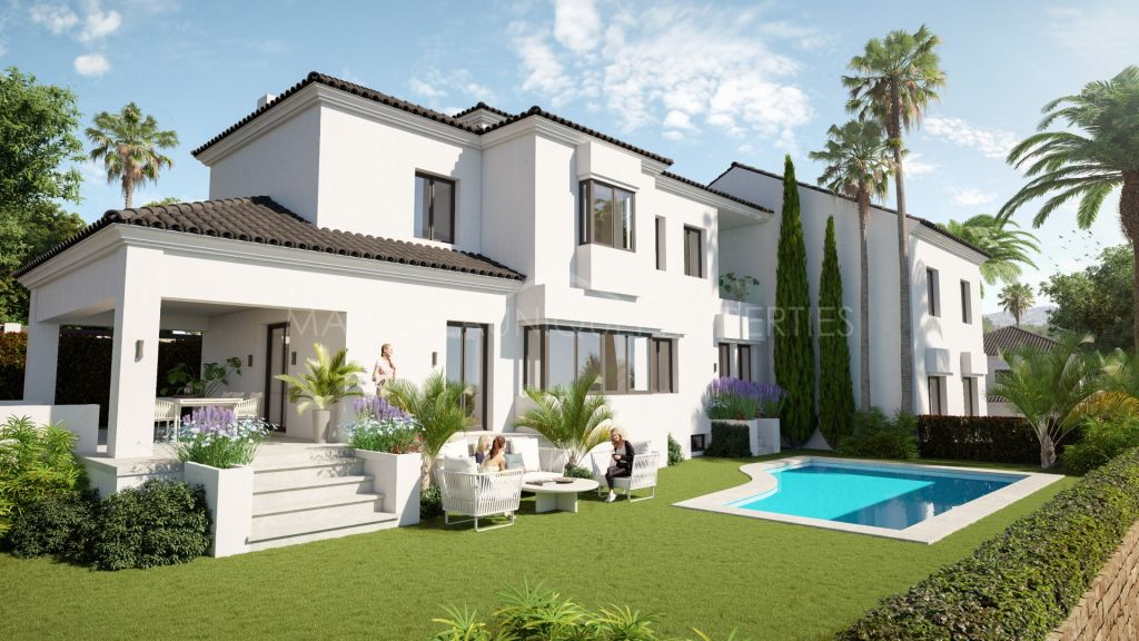 Brand new luxury villa complex, frontline golf in Elviria, Marbella East
