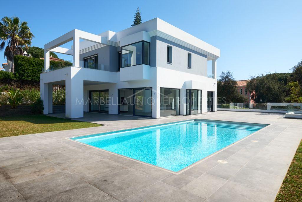 Newly built contemporary villa in Las Chapas, Marbella East