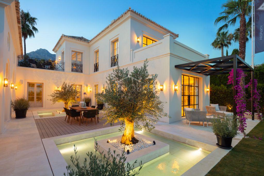 Elegant resort style villa on Golden Mile, Marbella