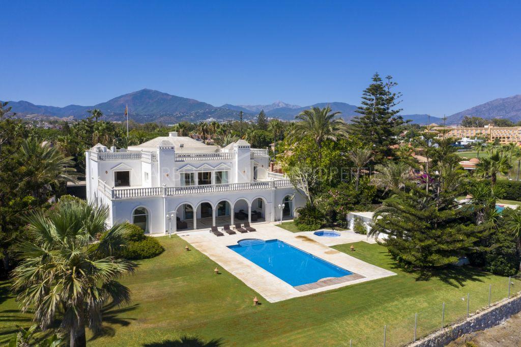 Frontline Beach Villa for rent in Casasola, Estepona