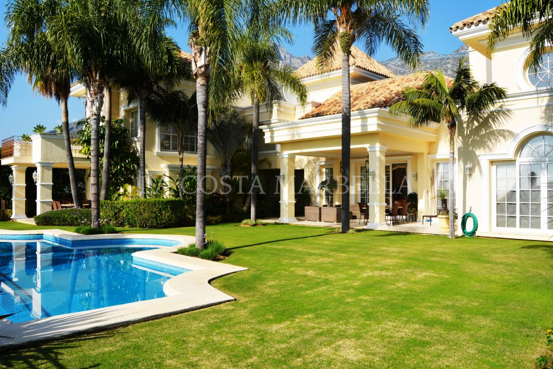 Marbella Golden Mile, Exquisite seven bedroom villa with sea views fr sale in Sierra Blanca, above Marbella's Golden Mile