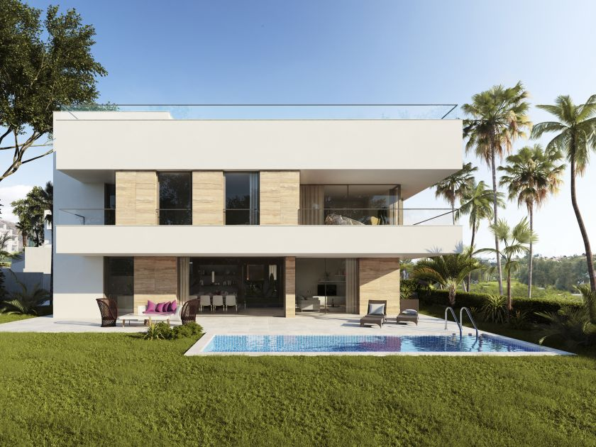 Estepona, 4 modern Villas for sale near Campanario Golf in Estepona