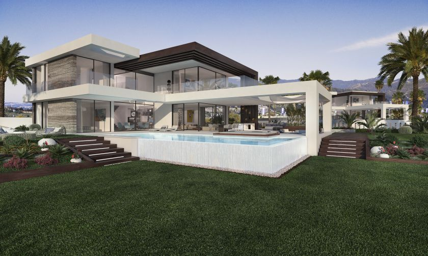 Estepona, Project for 12 new villas for sale in Urb. Cancelada in Estepona with sea view