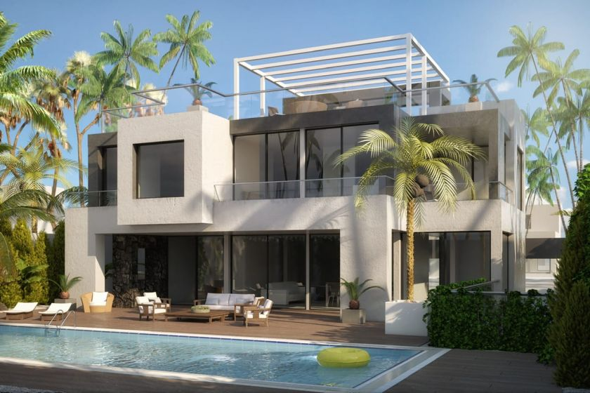 Marbella Golden Mile, Villa in shell state for sale in Strandurbansiation at the Golden Mile in Marbella