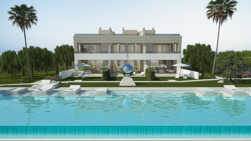 Marbella Golden Mile, Unique attached Villas for sale at the Golden Mile of Marbella