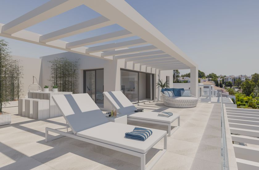 Estepona, Modern apartments and penthouses for sale near El Paraiso in Estepona