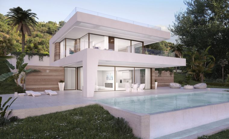 Estepona, Bargain Villas directly at the golf course in Estepona