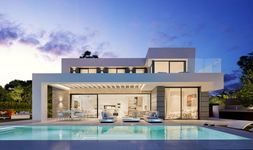 Marbella East, Project for modern new villas for sale in Cabopino