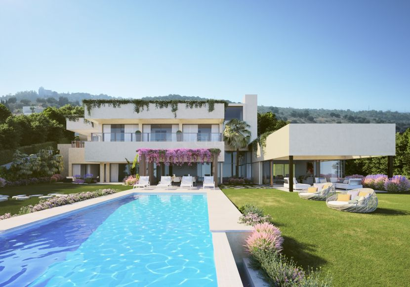 For sale a turnkey contemporary luxury villa in Benahavis, frontline golf