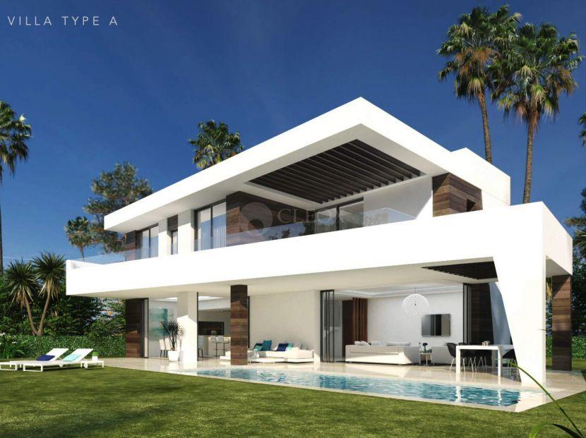 Off plan modern villas for sale in Selwo, Estepona