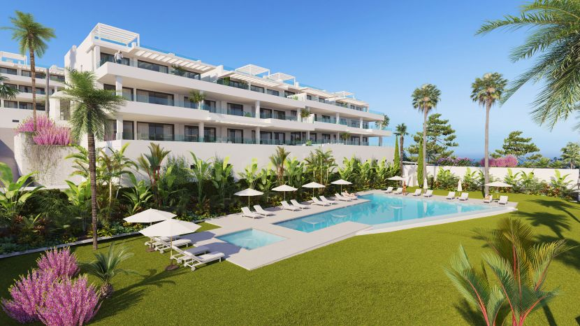 Key ready contemporary apartments walking distance to the beach in Estepona
