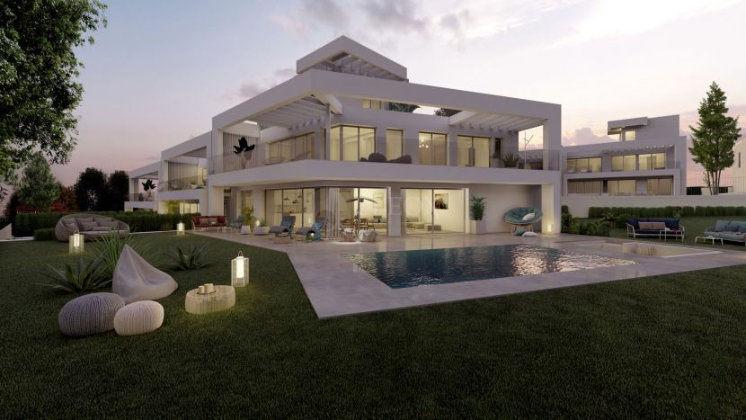 New development of 26 modern houses, frontline golf and with sea views
