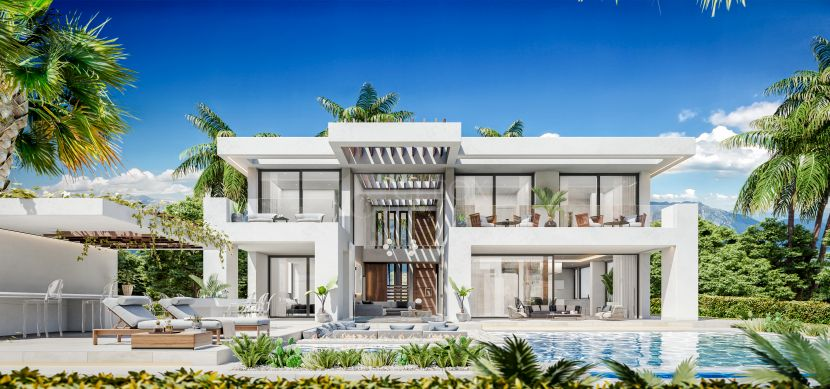 Projects with license to build excellent modern villas at La Resina Golf, Estepona