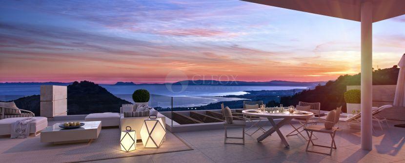Эксклюзивный жилой комплекс в горах, с захватывающим видом на Средиземное море.