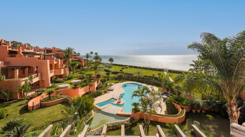 Luxury apartments frontline beach in Marbella east.