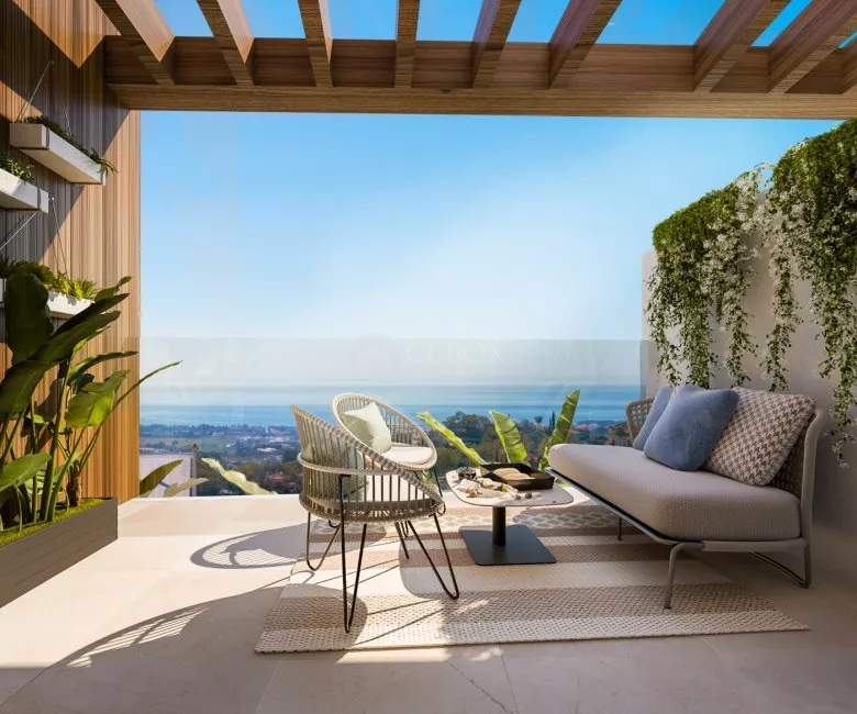 New villas with modern design and panoramic sea views