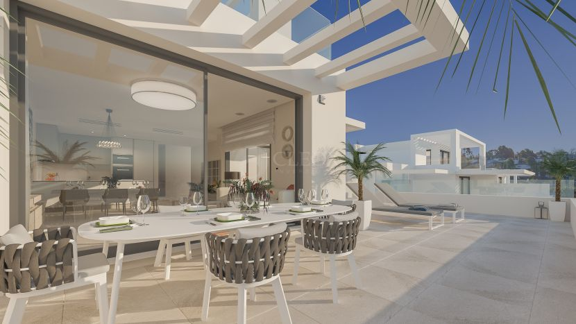 Gated complex of modern apartments for sale between Marbella and Estepona