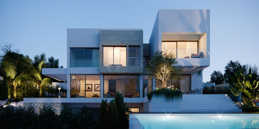 6 contemporary design villas in a gated community in Benahavis