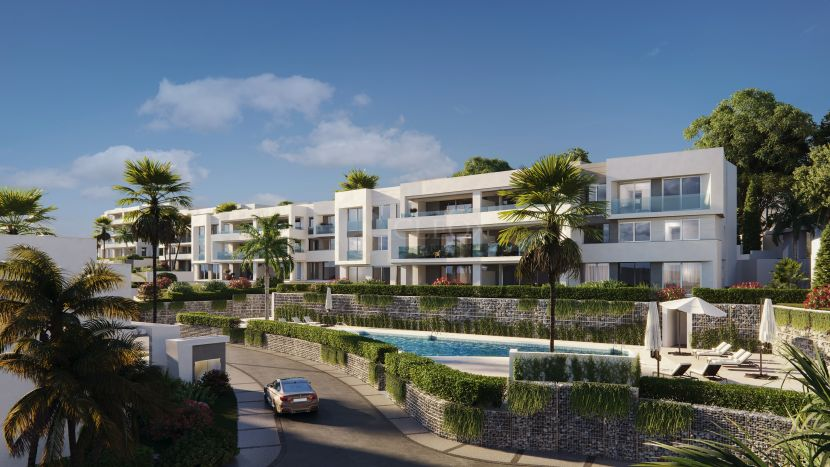 New development of modern apartments and penthouses, townhouses and villas in Marbella East