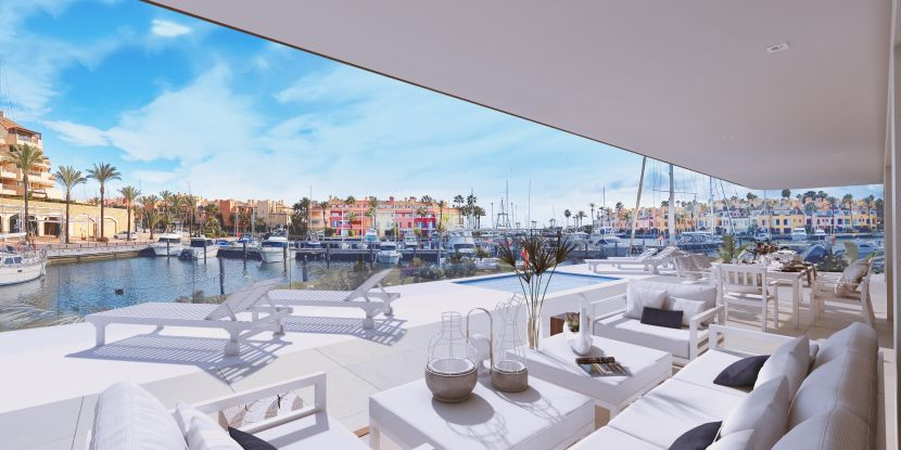 New unique apartments for sale, frontline to the marina in Sotogrande