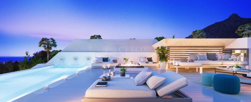 11 contemporary villas with private pools and sea views in Nueva Andalucia