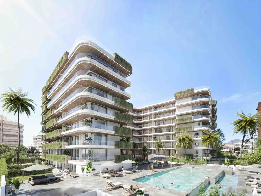 New development of contemporary apartments in the heart of Fuengirola, only 100 m from the beach