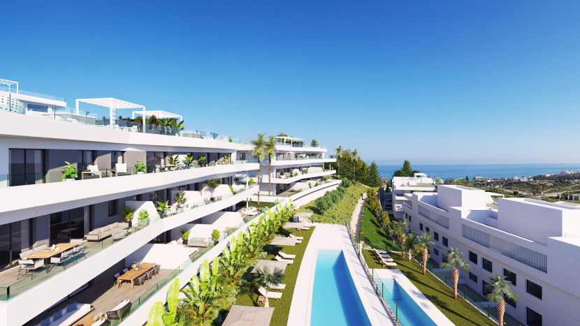 Contemporary apartments and penthouses with sea views in Estepona.
