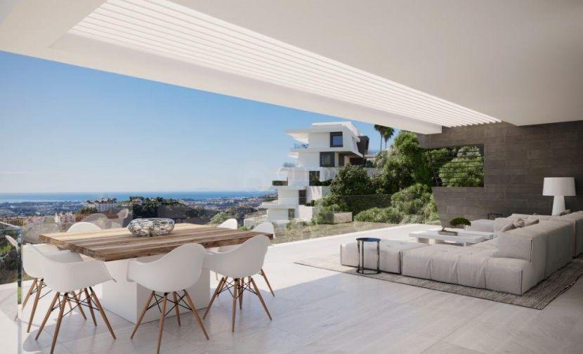 New development of luxury contemporary apartments, in Benahavis with stunning panoramic views