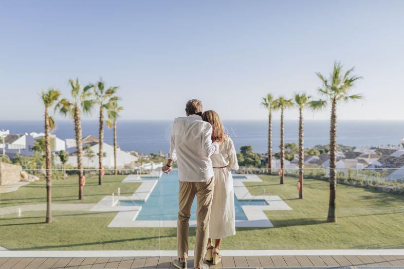36 mediterranean villas in Benalmadena Costa, with views to the Mediterranean Sea