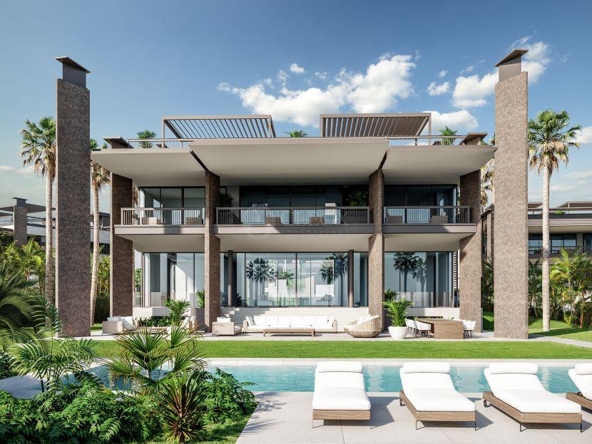 A unique development of 8 mansions walking distance to Puerto Banus