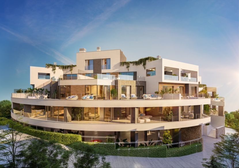 Contemporary apartments for sale in Marbella east with panoramic views