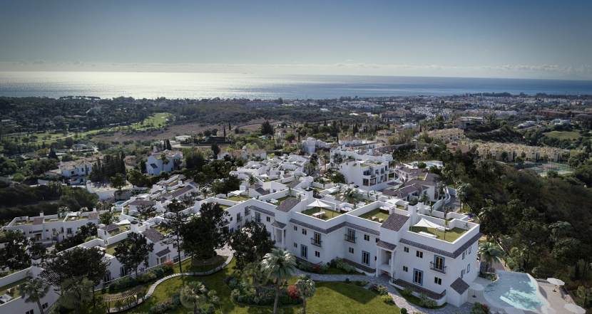 New development for sale next to Paraiso Golf in Benahavis, between Marbella and Estepona