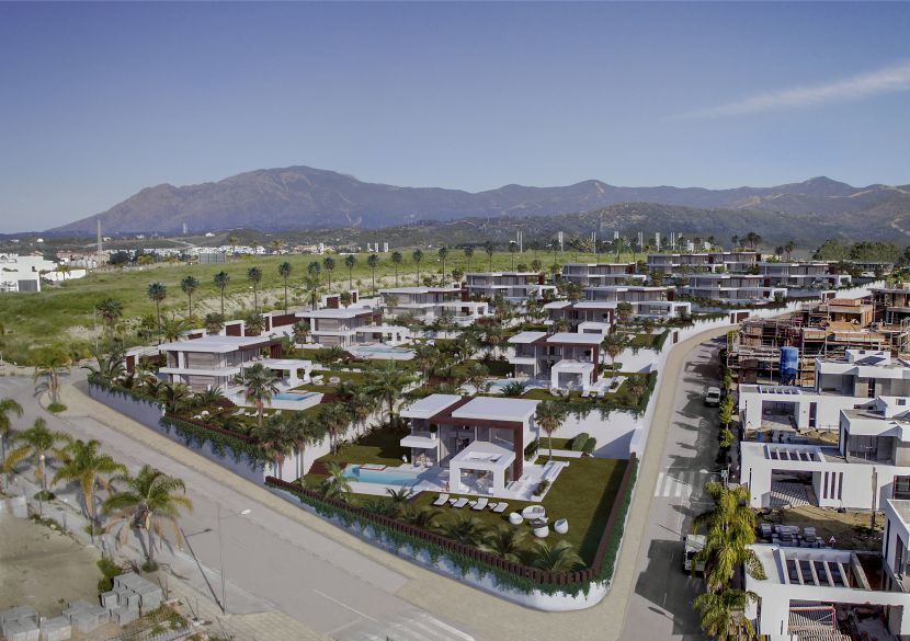 12 contemporary detached villas with panoramic views of the sea, between Marbella and Estepona