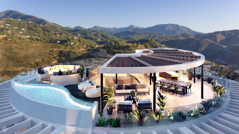 Contemporary luxury apartments and penthouses for sale in Benahavis-Marbella with panoramic views
