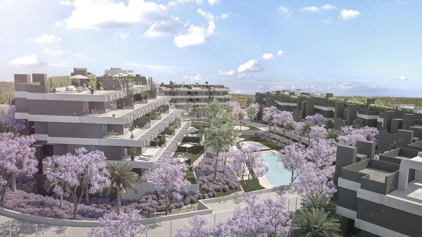 Apartamentos modernos, diseñada por Joaquín Torres, a la venta entre Estepona y Marbella.