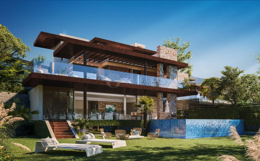 Luxurious gated development of 13 villas in La Alquería, Benahavis