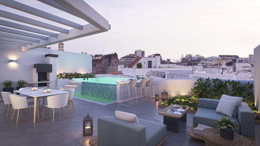 A duplex penthouse for sale in Casona 6 Lunas, a unique new project in Marbella Old Town