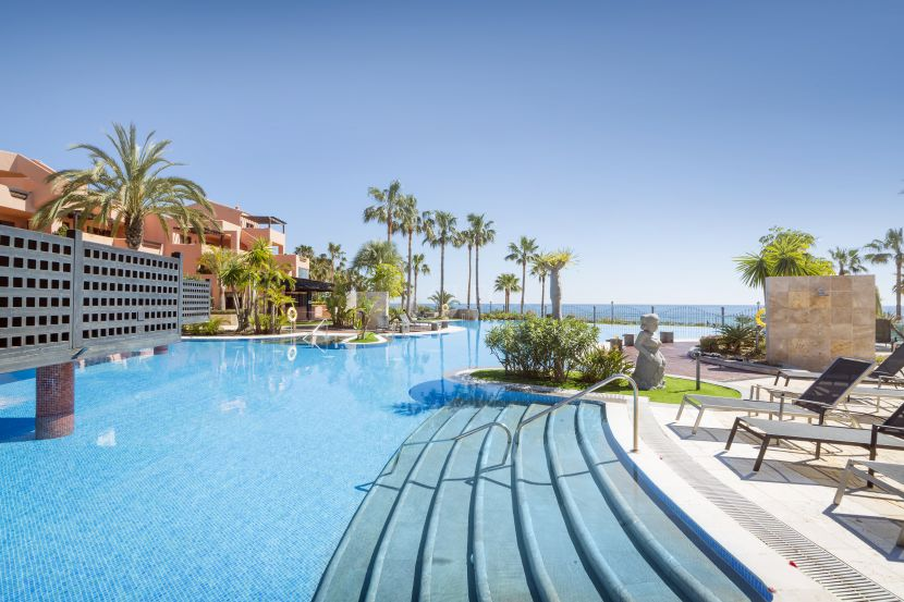 Exclusive frontline beach apartments for sale in Estepona with direct access to the beach.
