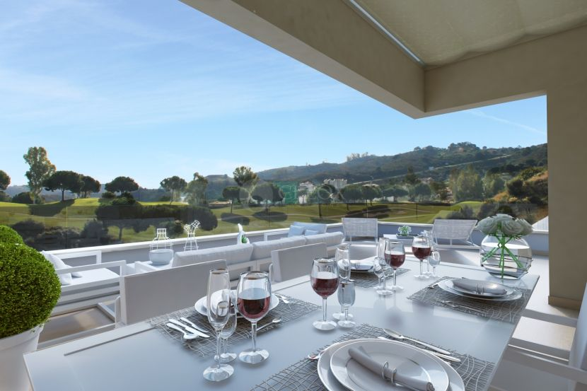 Modern houses with amazing views over the golf in La Cala Resort in Mijas