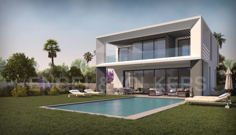 Private residential complex of 10 modern and distinguished villas on second line beach in Puerto Banús, Marbella - Puerto Banus