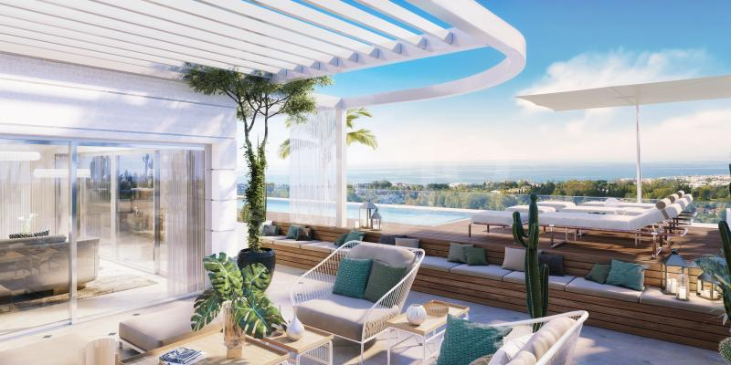 UNIQUE DUPLEX PENTHOUSE WITH EXCLUSIVE DESIGN IN ULTRA CONTEMPORARY COMPLEX ON MARBELLA'S GOLDEN MILE