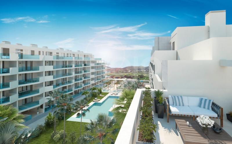 Nytt lägenhetsprojekt i Las Lagunas de Mijas, bredvid det bästa kommersiella området på Costa del Sol.