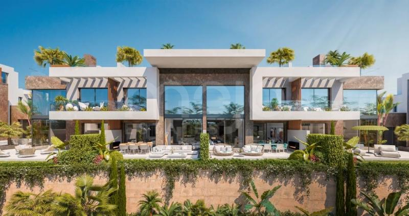 Complex of terraced and semi-detached houses with impressive sea views