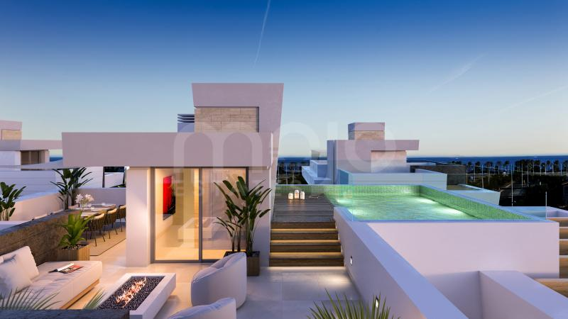 Luxury modern villas in San Pedro beach side